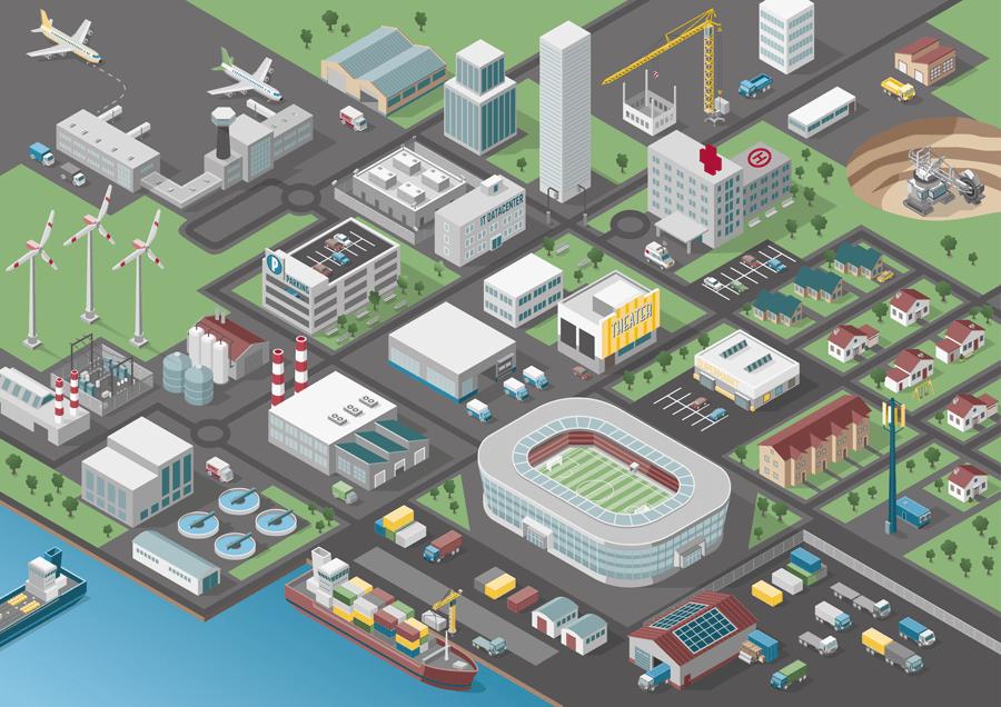 Wöhrle City - 3D Aufbau