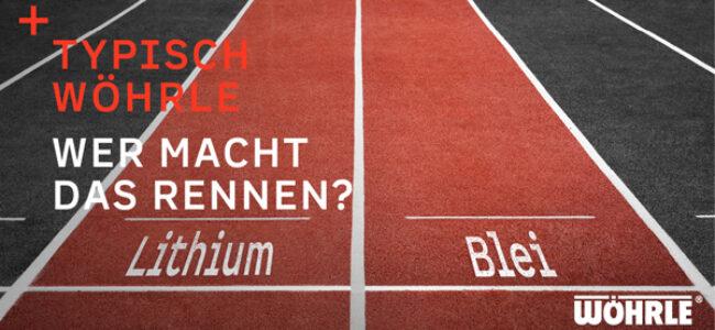 Wer macht das Rennen? Lithium vs. Blei